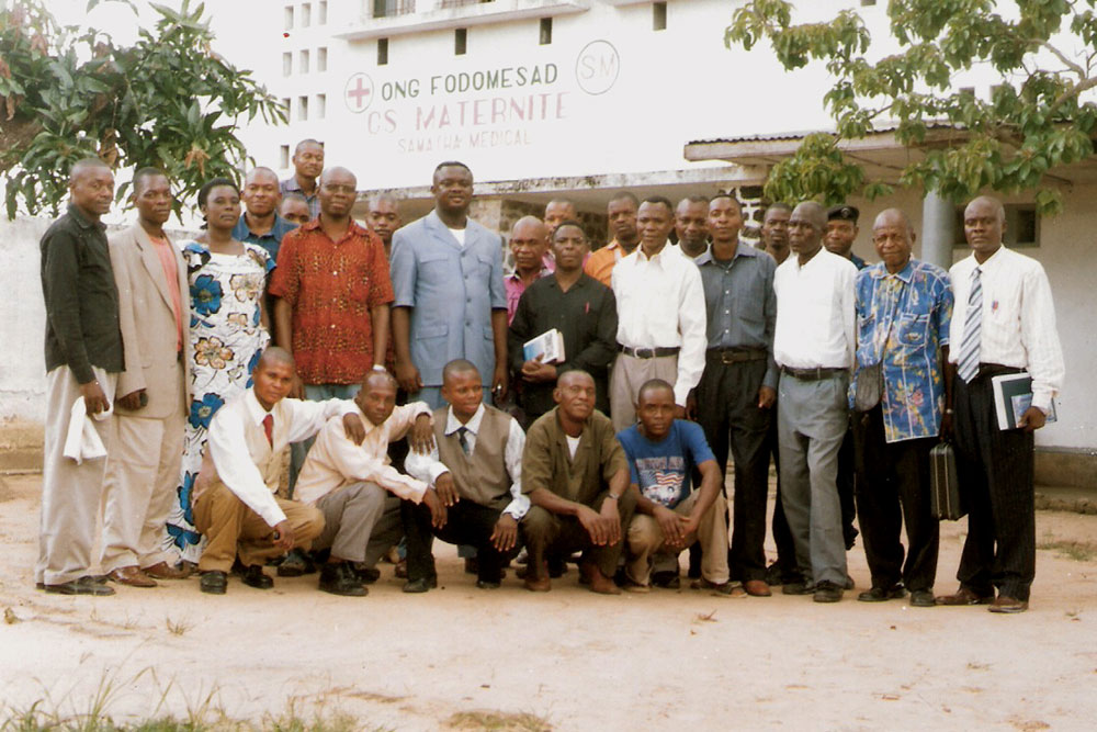Kananga Bible School Extension students and faculty