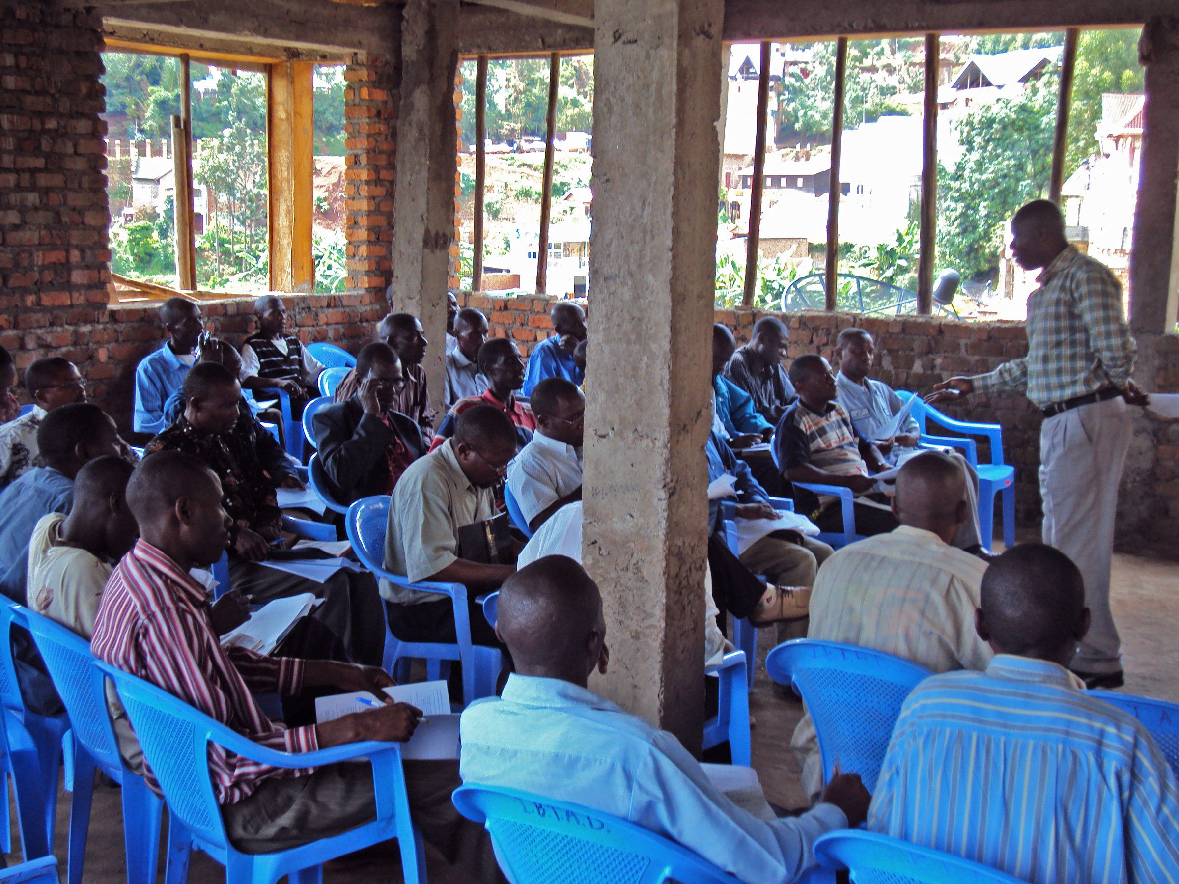 Bukavu Bible school extension class in session