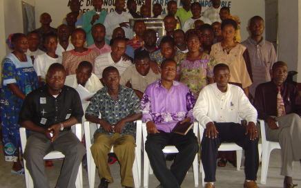Mbandaka Bible School Extension students