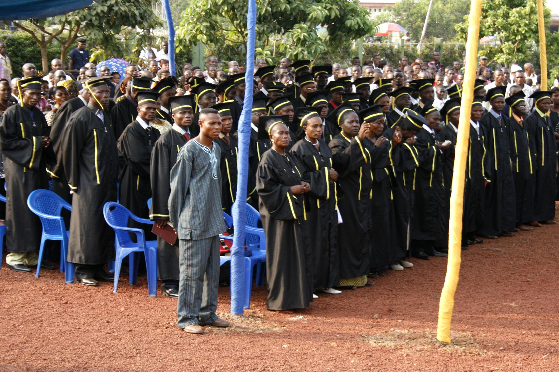 Mbandaka Bible School Extension graduates