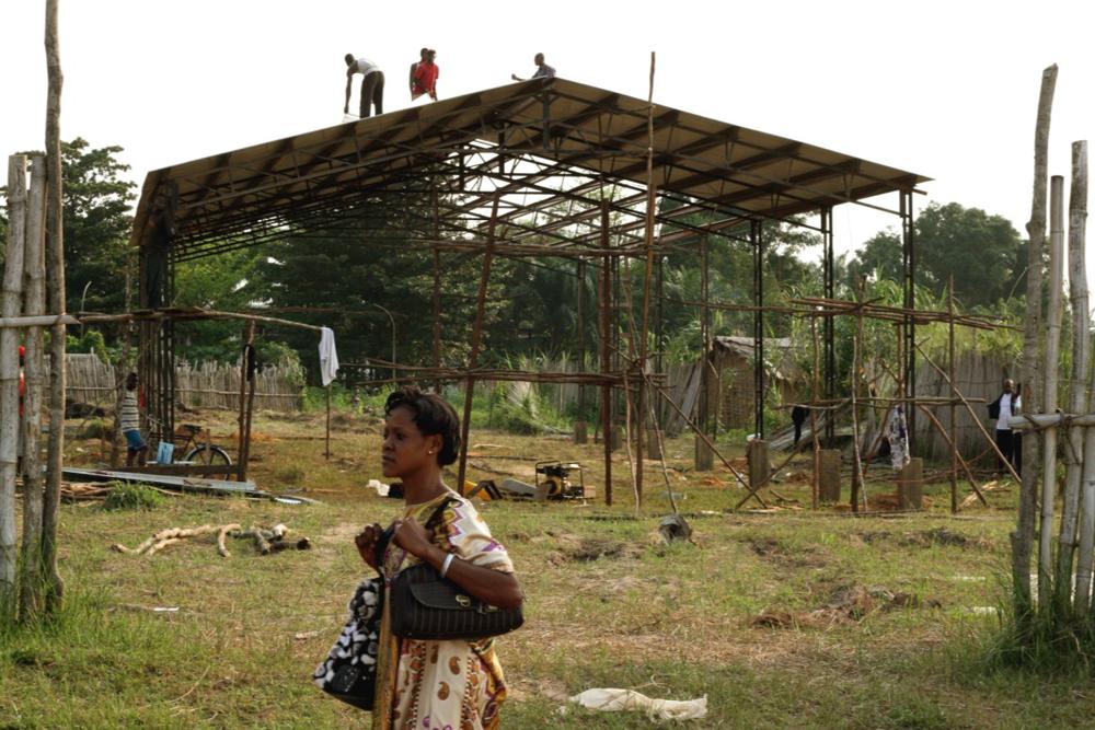 Mbandaka Bible School construction