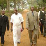 Moïse Beyumu with other church leaders