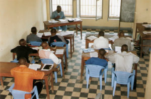 Kananga Bible School Extension students