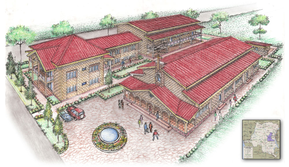 Kindu Bible School campus