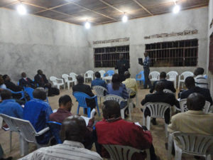 Mbuji-Mayi Bible School classroom