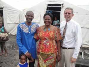 Pastor Timothy and his wife with Bill Shaw in Goma