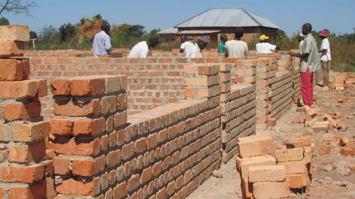 Lubumbashi Bible School construction