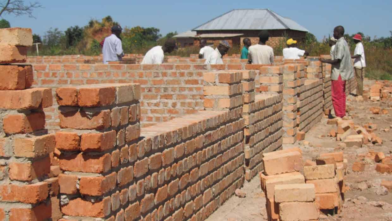 Lubumbashi Bible School construction