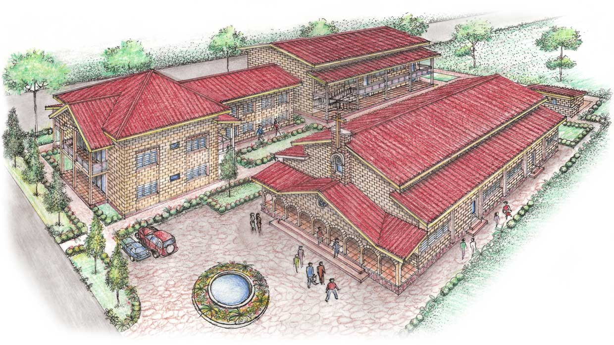 Architect's rendition of the Kindu Bible School campus