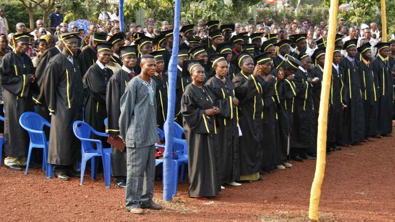 Mbandaka Bible School graduates