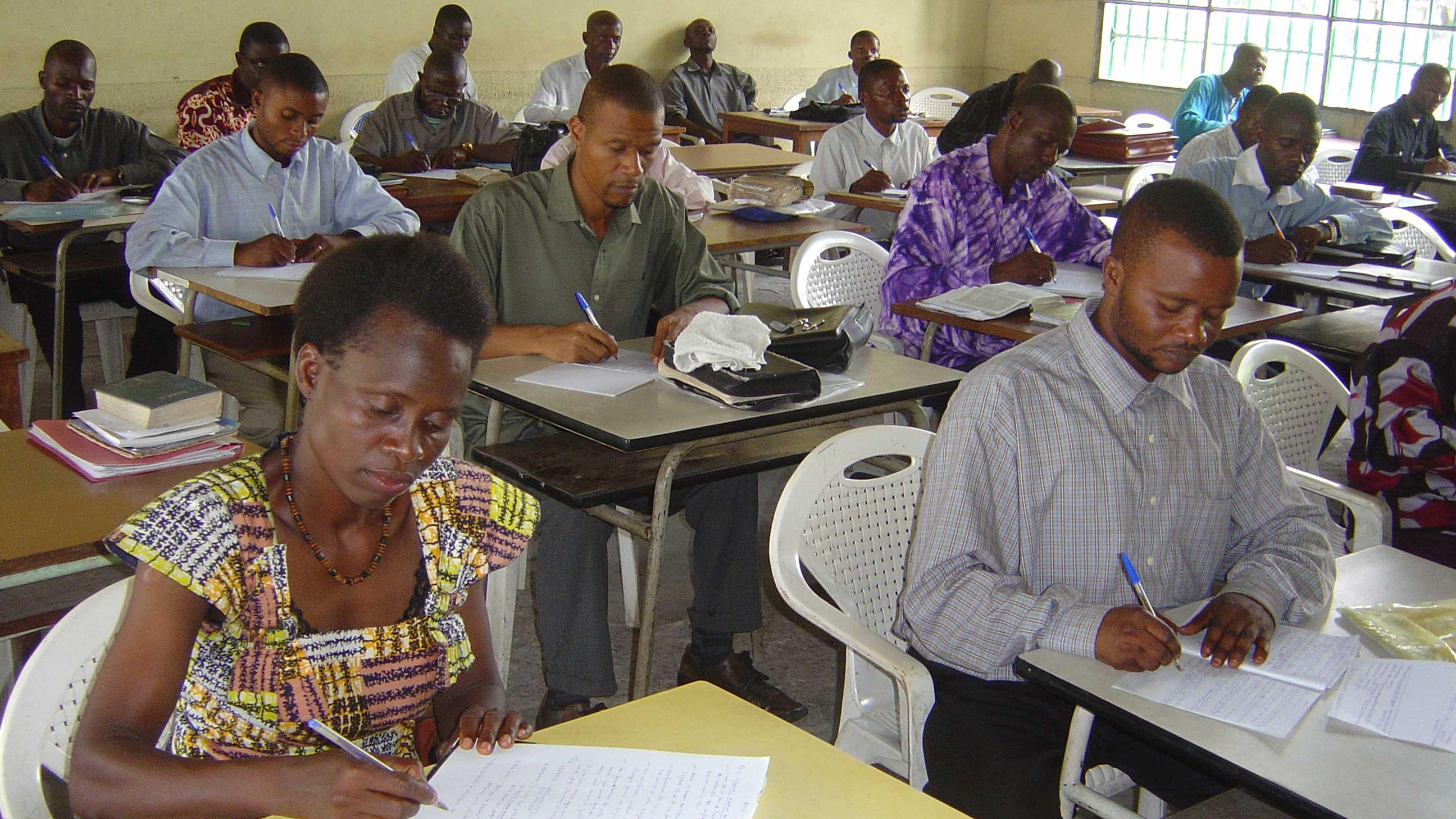 Kinshasa Bible School students
